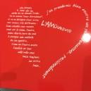 Set de Table rouge  L'Amoureuse