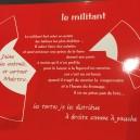 Set de Table rouge  Le Militant