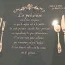 Set de Table gris La Précieuse