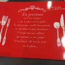 Set de Table rouge La Précieuse