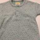 T-Shirt Bleu moucheté vert  3-6 mois Réversible