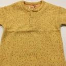 T-Shirt Jaune moucheté Corail  6-12 mois rÉVERSIBLE