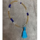 Bracelet Pompon Bleu