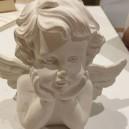 Ange en plâtre