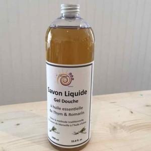 Savon Liquide Gel douche Thym Romarin 1l