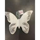 Papillon Paillettes Argent