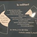 Set de Table gris  Le Militant