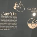 Set de Table gris  L'Artiste