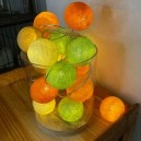Guirlande Boul Boul Couleur Orange Jaune Vert clair