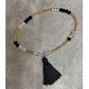 Bracelet Pompon Noir