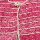 Gilet en laine Rose fabriqué par nos tricoteuses du mardi