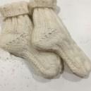Chaussette bébé en laine  fabriqué par nos tricoteuses du mardi