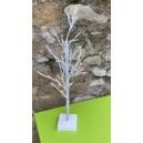 Arbre lumineux à piles blanc 50-60cm
