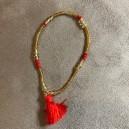 Bracelet Pompon Rouge
