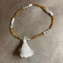 Bracelet Pompon Blanc